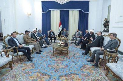 اجتماع الرئاسات الثلاث مع قادة الحشد الشعبي.. أبو مهدي المهندس لم يكن حاضرًا